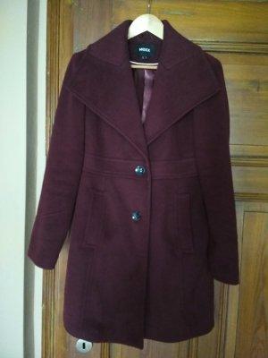 Mexx Wool Coat bordeaux-purple