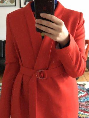 & other stories Manteau en laine rouge