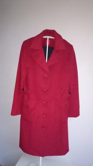 s.Oliver Wollen jas zwart-rood
