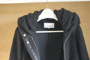 Vila Hooded Coat black mixture fibre