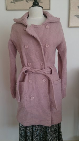 Zero Manteau en laine or rose