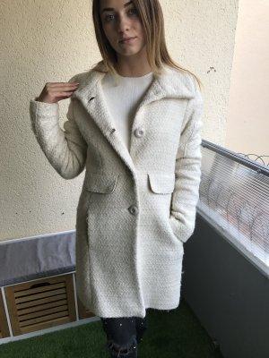 Wollmantel weiß lang