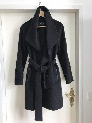 MNG SUIT Abrigo de lana gris antracita