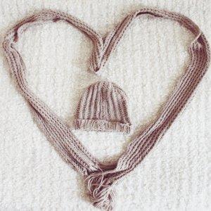 Wollmaus | Kuscheliger Schal & Mütze in Creme/Beige