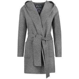 Blaumax Abrigo con capucha gris Lana