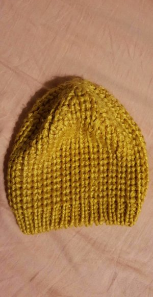 H&M Divided Knitted Hat gold-colored-sand brown
