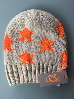 Knitted Hat orange-cream