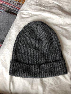 H&M Sombrero de tela gris antracita