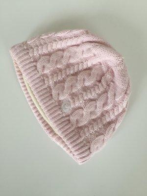 Cappellino rosa pallido Lana