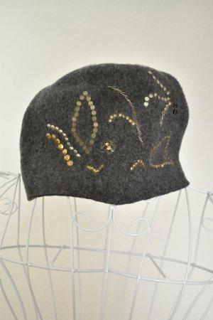Loevenich Chapeau en tricot gris laine