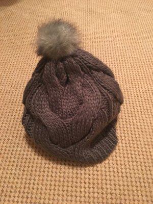 Tom Tailor Cappello a maglia antracite Lana