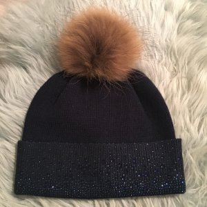 Fur Hat dark blue