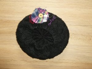 Desigual Chapeau en tricot noir