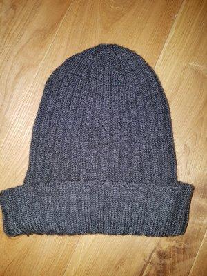 Sombrero de punto gris oscuro-gris antracita