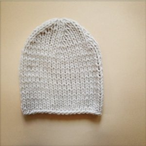 Knitted Hat gold-colored wool