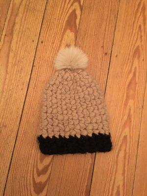 Knitted Hat beige-black