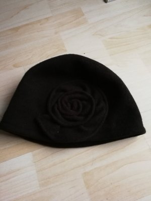Seeberger Knitted Hat brown new wool