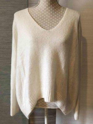 H&M Jersey de lana blanco puro-blanco tejido mezclado