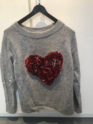 Wollpulli / Pailletten / Sweater