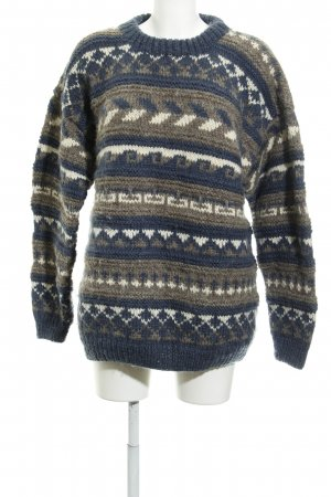 Wollpullover abstraktes Muster Casual-Look