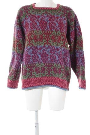 Jersey de lana estampado con diseño abstracto estilo extravagante