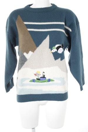 Maglione di lana motivo astratto soffice