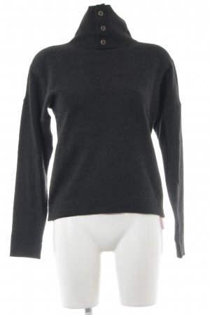 Wollpullover anthrazit meliert Casual-Look