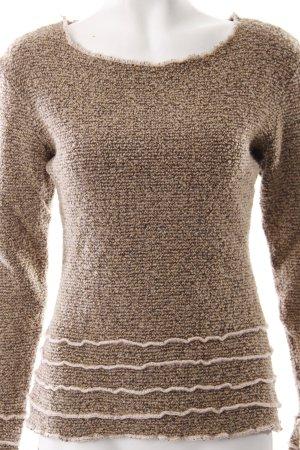 Jersey de lana marrón-marrón oscuro