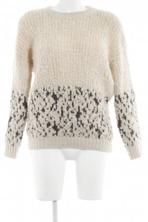 Wollpullover creme-grau Webmuster Casual-Look