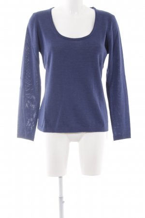 Wollpullover dunkelblau Casual-Look