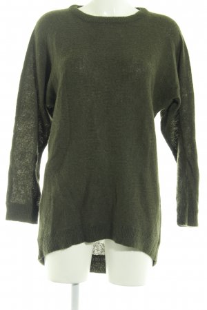 Wollpullover dunkelgrün Casual-Look