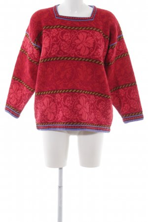 Wollpullover florales Muster Casual-Look