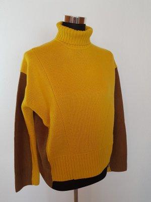 H&M Jersey de lana amarillo-verde oliva