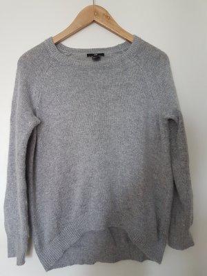 Wollpullover Grau Angora Oversize Warm Weich 34 36 XS