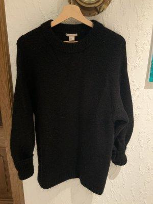 H&M Wool Sweater black wool
