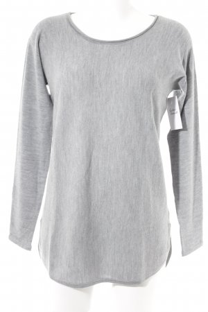 Wollpullover hellgrau Casual-Look