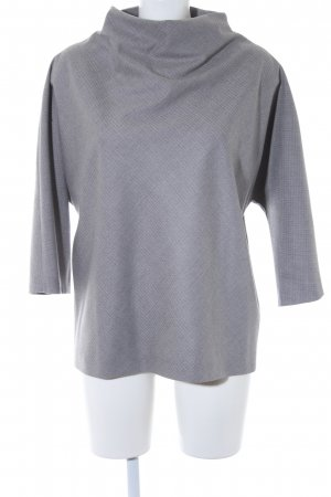 Wollpullover hellgrau Hahnentrittmuster Casual-Look