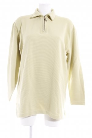 Wollpullover limettengelb Casual-Look