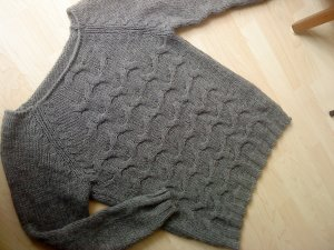 Wollpullover made in italy mittelgrau Größe M
