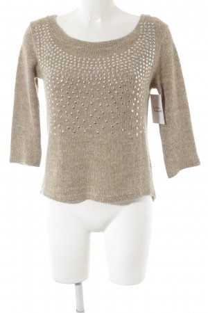 Wollpullover meliert Casual-Look