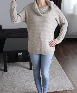 Wollpullover mit großem Kragen Gr. 36