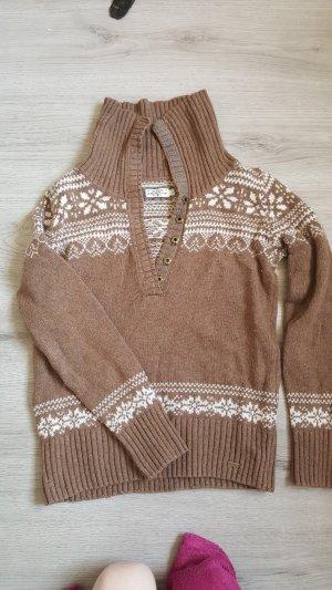 Tom Tailor Wool Sweater white-light brown