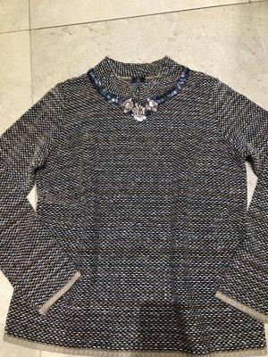 Jersey de lana negro-marrón oscuro