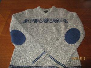 Wollpullover mit Wildleder badges