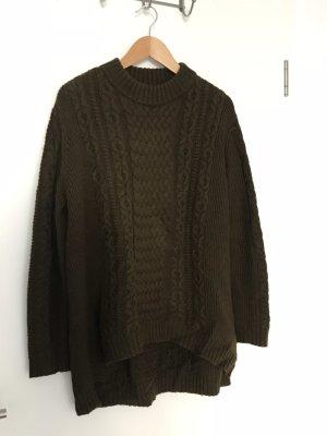 Wollpullover mit Zopfmuster von COS im oversized Look