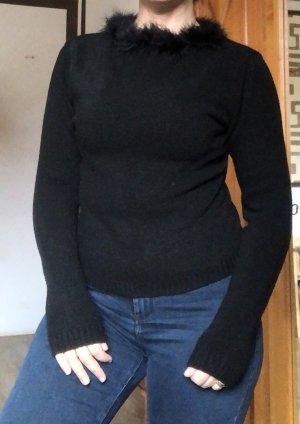 Wollpullover Pulli  Strick Pullover mit Federn
