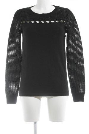 Maglione di lana nero Motivo a maglia leggera soffice