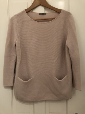 COS Knitted Sweater dusky pink wool