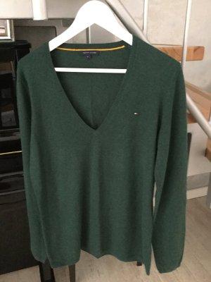 Tommy Hilfiger Maglione di lana verde bosco Lana