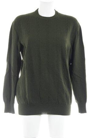 Wollpullover waldgrün Casual-Look